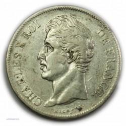 CHARLES X 5 Francs 1827 W LILLE,TTB, lartdesgents.fr