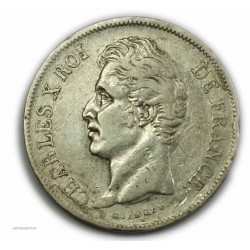 CHARLES X 5 Francs 1829 A PARIS,TTB+, lartdesgents.fr