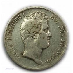 """ECU """"T.Creux"""" LOUIS PHILIPPE Ier 5 Francs 1831 K Bordeaux,TB+, lartdesgents.fr"""