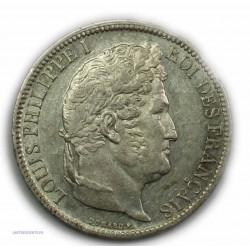"""ECU """"T.R"""" LOUIS PHILIPPE Ier 5 Francs 1831 A Paris,TTB+, lartdesgents.fr"""