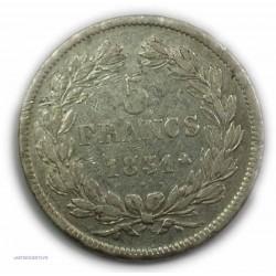 """ECU """"T.R"""" LOUIS PHILIPPE Ier 5 Francs 1831 B ROUEN,TTB, lartdesgents.fr"""