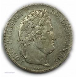 ECU 5 Francs LOUIS PHILIPPE Ier, 1832 T NANTES, TTB
