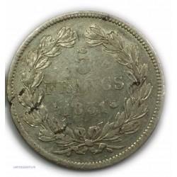 """ECU """"T.Creux"""" LOUIS PHILIPPE Ier 5 Francs 1831 D LYON,TB, lartdesgents.fr"""