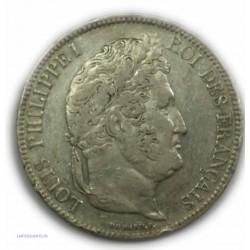 ECU 5 Francs LOUIS PHILIPPE Ier, 1834 D LYON, TTB