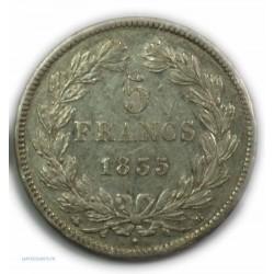 ECU 5 Francs LOUIS PHILIPPE Ier, 1835 BB Strasbourg (Abeille), TTB