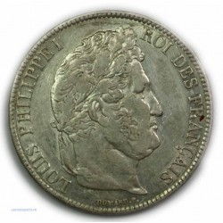 ECU 5 Francs LOUIS PHILIPPE Ier, 1837 B Rouen, TTB