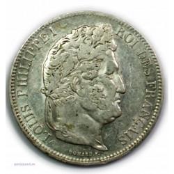 ECU 5 Francs LOUIS PHILIPPE Ier, 1841 W LILLE, TTB