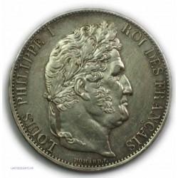 ECU 5 Francs LOUIS PHILIPPE Ier, 1844 W LILLE, P/SUPERBE