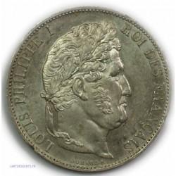 ECU 5 Francs LOUIS PHILIPPE Ier, 1845 W LILLE, SUPERBE