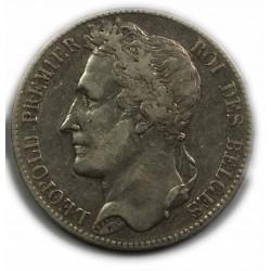 BELGIQUE - LEOPOLD Ier 5 Francs 1847, lartdesgents.fr