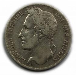BELGIQUE - LEOPOLD Ier 5 Francs 1849, lartdesgents.fr