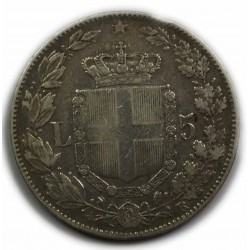 ITALIE- UMBERTO I - 5 LIRE 1879,(2) lartdesgents.fr