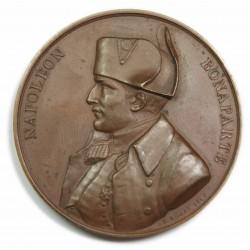 Médaille Napoléon Bonaparte - Texte écrit sur le Bellerophon. (1840)