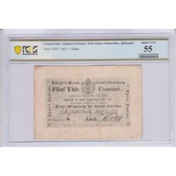 ALLEMAGNE Prusse 5 Thaler 1824 Pick S397 PCGS 55 UNC