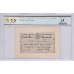 ALLEMAGNE Prusse 5 Thaler 1824 Pick S397 PCGS 63 UNC