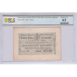 ALLEMAGNE Prusse 5 Thaler 1824 C Pick S397 PCGS 63 UNC