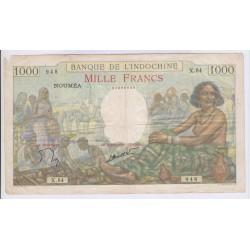 Billet NOUMEA Banque Indochine 1000 Francs 1963 p43d TB