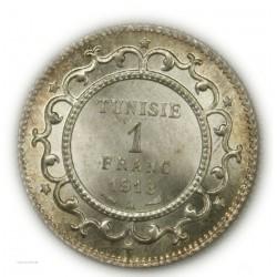 TUNISIE - 1 Franc 1918 SPL/FDC, lartdesgents.fr