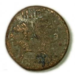 DUPONDIUS / AS de Nîmes Type 2 (16-15 av. J.C.) TB