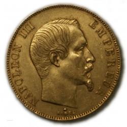50 Francs  NAPOLEON III 1858 BB Strasbourg, TTB+
