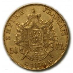 50 Francs  NAPOLÉON III 1858 BB Strasbourg, TTB+