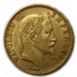50 Francs  NAPOLÉON III 1862 BB Strasbourg, TTB, lartdesgents.fr