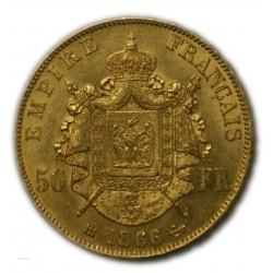50 Francs NAPOLÉON III 1866 BB, TTB+, lartdesgents.fr