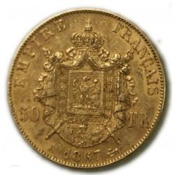 50 Francs NAPOLÉON III 1867 A PARIS , TTB, lartdesgents.fr