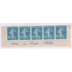 Bande publicitaire 5 timbres biscuit olibet cote 530 Euros l'art des gents