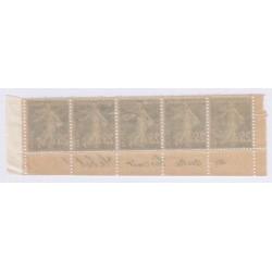 Bande publicitaire 5 timbres 25 c  bleu biscuit olibet cote 530 Euros l'art des gents4
