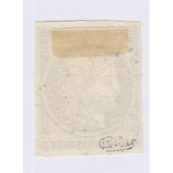 Timbre N°1 10 c. bistre-jaune cote 350 1850 signé charnière cote 350 Euros l'art des gents1