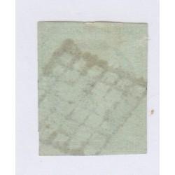Timbre N°2 15 c. vert 1850 oblitéré, cote 1100 Euros l'art des gents2