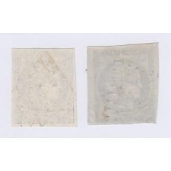 Timbre N°3 et 4 1850 oblitérés, cote 130 Euros l'art des gents