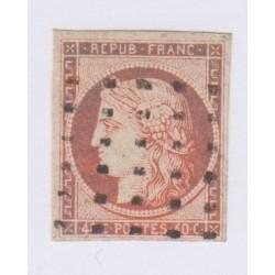 Timbre N°5 1850 oblitérés, cote 500 Euros l'art des gents