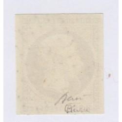 Timbre N°9, 10 c. bistre jaune signé oblitéré, cote 850 Euros l'art des gents1