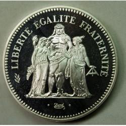 Piéfort  - 50 Francs Hercule 1975 SPL/FDC, lartdesgents.fr