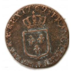 Louis XV Demi sol à l'écu 1769 D Lyon, lartdesgents.fr