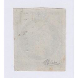 Timbre N°25,  25 c. bleu oblitéré signé , cote 290 Euros l'art des gents