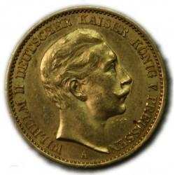 GERMANY - WILHEM II 20 MARK 1911 PRUSSE, lartdesgents.fr