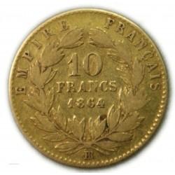 Napoléon III 10 Francs 1864 BB (grand), lartdesgents.fr