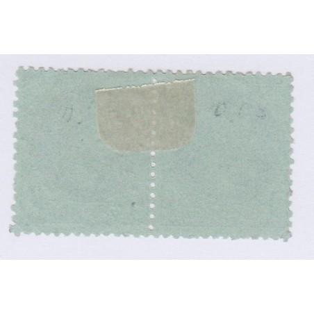 Bande de 2 Timbres N°25 1 c. vert bronze 1870 oblitérée 60 Euros l'art des gents 2