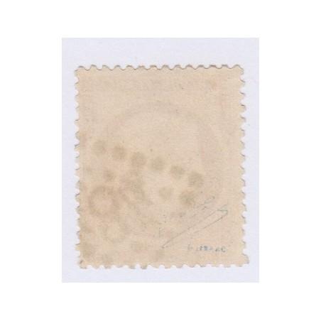 Timbre N°36, 10 c. bistre-jaune, octobre 1870 oblitéré signé lartdesgents.fr