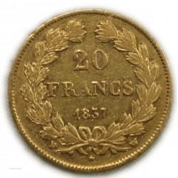 LOUIS PHILIPPE Ier 20 Francs 1837 W LILLE, lartdesgents.fr