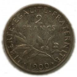 Semeuse 2 francs 1900 TTB, lartdesgents.fr