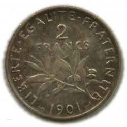 Semeuse 2 Francs 1901 TTB, lartdesgents.fr