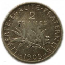 Semeuse 2 Francs 1905 TTB, lartdesgents.fr