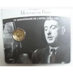France Commémorative 2010 - BU 2€ Appel du 18 juin 1940, lartdesgents.fr