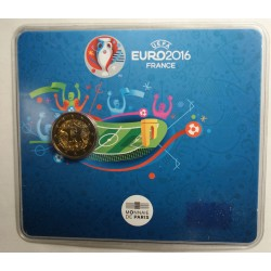 Blister BU Commémorative 2 euro France 2016 UEFA, lartdesgents.fr