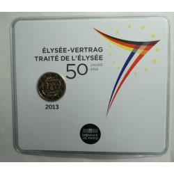 Blister BU Commémorative 2 euro France 2013 Traité de l' Elysée, lartdesgents.fr