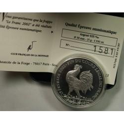MÉDAILLE - 1 Franc 1898 - 2002 - Fin du cours légal du FRANC, lartdesgents.fr